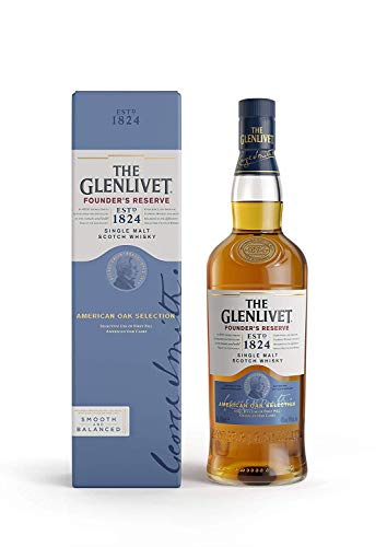 The Glenlivet Founder's Reserve Single Malt Scotch Whisky - Whisky Escocés de Malta Premium, 700 ml